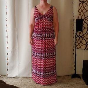 AB Studio multi-color maxi dress, small